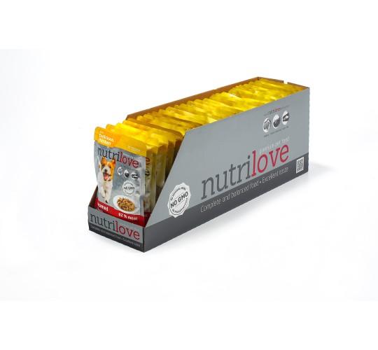 Nutrilove koeraeine kanafileed kastmes 28X85g
