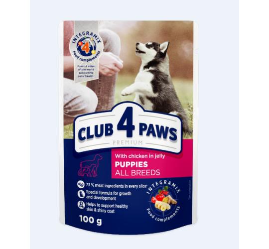 Club 4 paws konserveeritud toit kutsikatele 24x100g