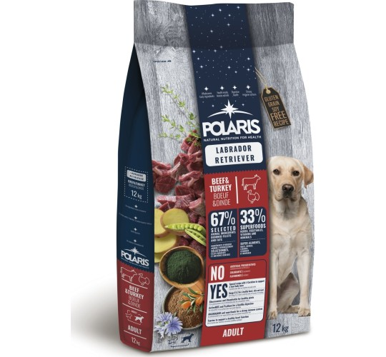 Polaris grainfree adult beef&turkey labrador retriiver 12 kg