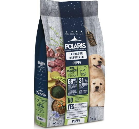 Polaris grainfree puppy lamb&salmon labrador retriiverile 12 kg