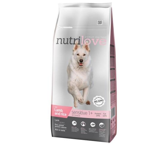 Nutrilove sensitive lamb&rice 12 kg