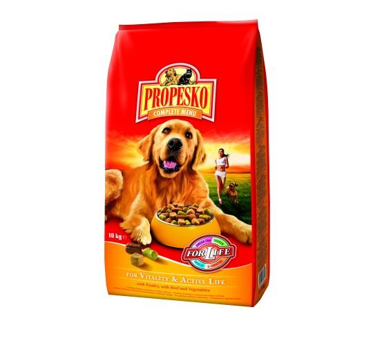 Propesko Vitality & Active Life koeratoit looma-, linnuliha ja juurviljadega 30kg (3x10kg)