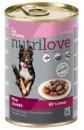 Nutrilove консервированный корм для собак - меню из телятины и индюшатины 415g